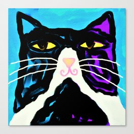 Mr. Big Stuff Abstract Digital Cat Painting Canvas Print