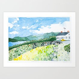 Tumbledown Mountain View, Maine Art Print