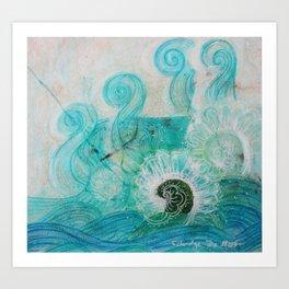 Water Dragon Art Print