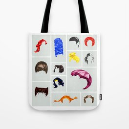 Famous geometric hairstyles Tote Bag
