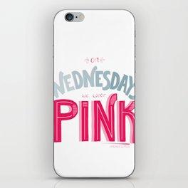 Pink Wednesdays iPhone Skin
