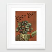 1984 Framed Art Prints featuring 1984 by Malcolm Loo