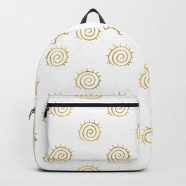 Gold Spiral Sun Pattern Backpack