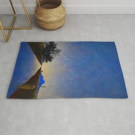 Hot Springs, Yavapai, Arizona landscape painting by Maxfield Parrish Rug