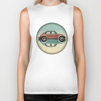 bug Biker Tanks featuring love bug by Vin Zzep