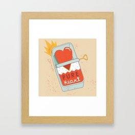 Canned Heart Framed Art Print