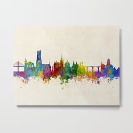 Fribourg Switzerland Skyline Metal Print