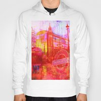 london Hoodies featuring LONDON by Ganech joe