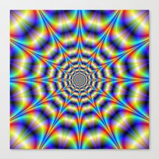 Psychedelic Wheel Canvas Print