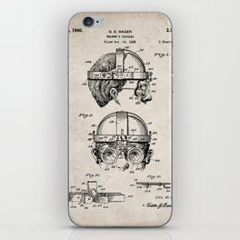 Welding Goggles Patent - Welder Art - Antique iPhone Skin