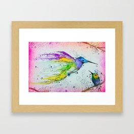 Liquid Hummingbird Framed Art Print