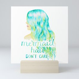 Mermaid Hair, Don't Care Mini Art Print
