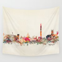 dc Wall Tapestries featuring washington dc  by bri.buckley