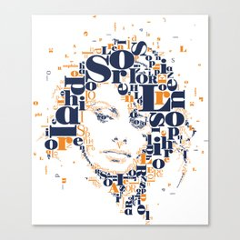 Sophia Loren Typographic Image Canvas Print