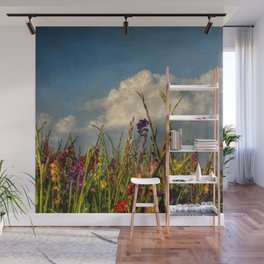 colored swords - field of Gladiola flowers Wall Mural