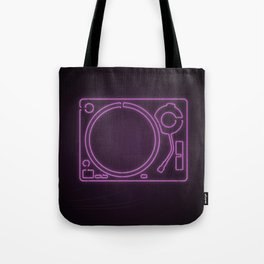 Neon Turntable 1 - 3D Art Tote Bag