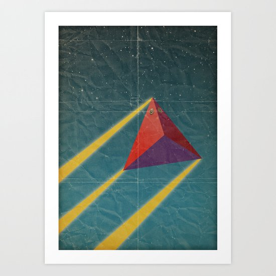 tetrahedra of space Art Print