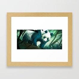 The Lurking Panda Framed Art Print