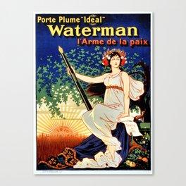 Waterman fountain pens 1919 Canvas Print