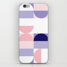 Minimal Bauhaus Semi Circle Geometric Pattern 2 - #bauhaus #minimal iPhone Skin