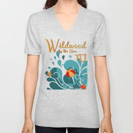 Oh Those Wildwood Daze Unisex V-Neck