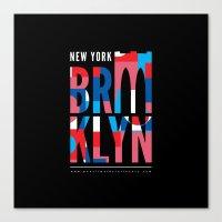 Brooklyn Bridge Remix // www.pencilmeinstationery.com Canvas Print