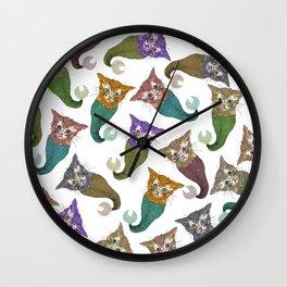 Cat Piranhas Wall Clock