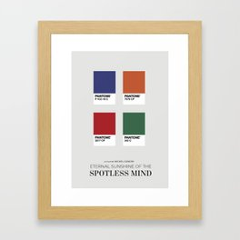 Eternal Sunshine of the Spotless Mind - Minimalist Poster Framed Art Print