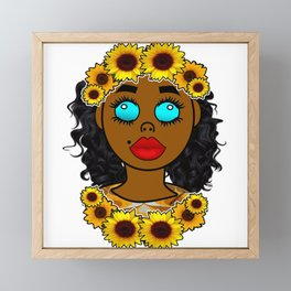 Sunflower Goddess Vibes Framed Mini Art Print