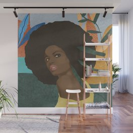 Afro lady #art print#society6 Wall Mural