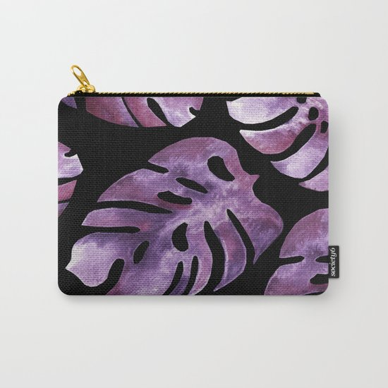 Monstera Purple Carry-All Pouch