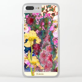 Decorative Yellow & Pink Spring Clear iPhone Case