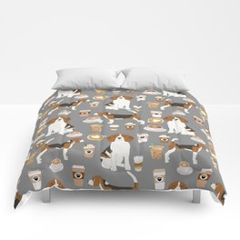 Beagle coffee dog breed gifts pupuccino dog lover beagles pure breed Comforters