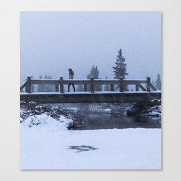 Bridge to Snow-where Canvas Print