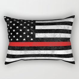 Thin Red Line Flag Rectangular Pillow