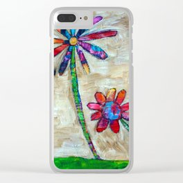 Bloom Trees Clear iPhone Case
