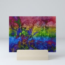 Psychedelic Seed of Life Mini Art Print