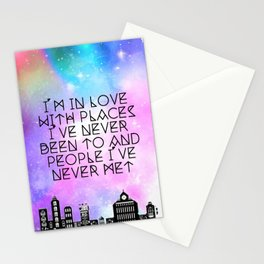 Love, Places, People Stationery Cards