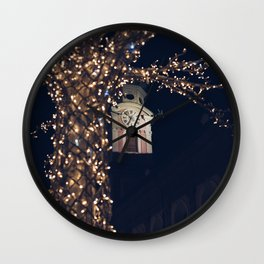 Christmas Lights Wall Clock