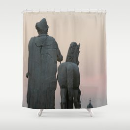 Watching the Sunset from the Capitol Shower Curtain