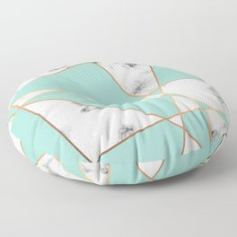 Marble Geometry 055 Floor Pillow