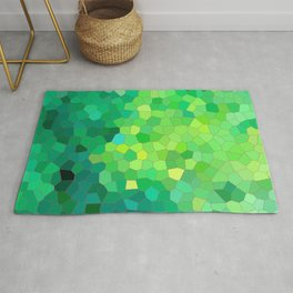 Abstract Green Reptile Skin Pattern Rug