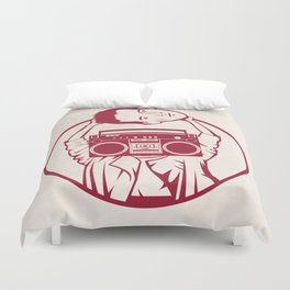Don't Say Anything Duvet Cover