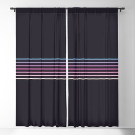 Pink Colored Retro Stripes Blackout Curtain