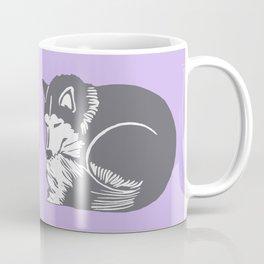 Sleeping Husky Dog Coffee Mug
