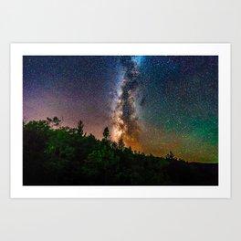 Northern Michigan Milky Way Art Print