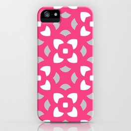 Kerstin - pink & grey iPhone Case