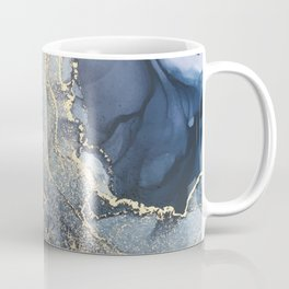 Blush, Payne's Gray and Gold Metallic Abstract Coffee Mug