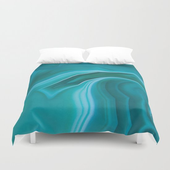 Agate Sea Green Texture Duvet Cover By Catyarte Society6