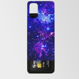 Fox Fur Nebula Galaxy blue purple Android Card Case